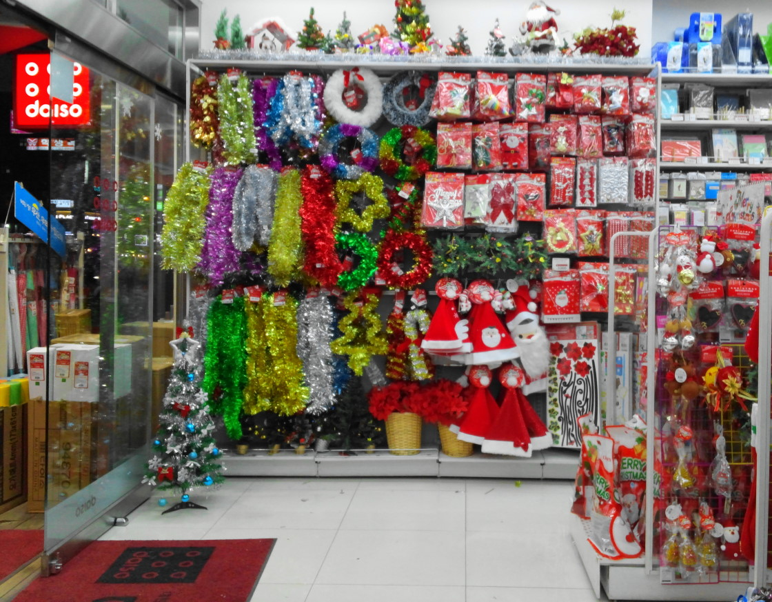 Daiso and homeplus christmas shopping selections modern for Christmas decorations