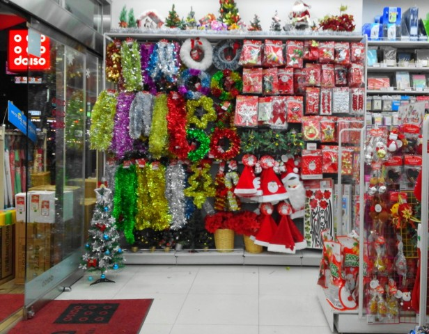 Christmas Decorations and Hats - Daiso
