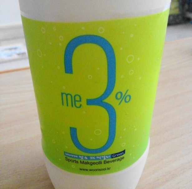 Me3% Sports Makkoli Drink - Label