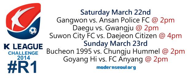 K League Challenge 2014 Round 1