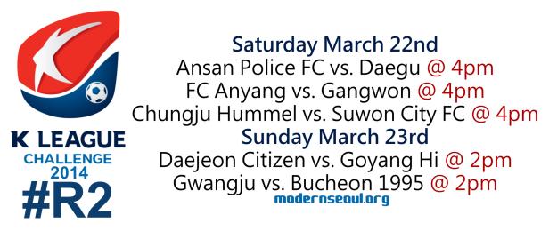 K League Challenge 2014 Round 2
