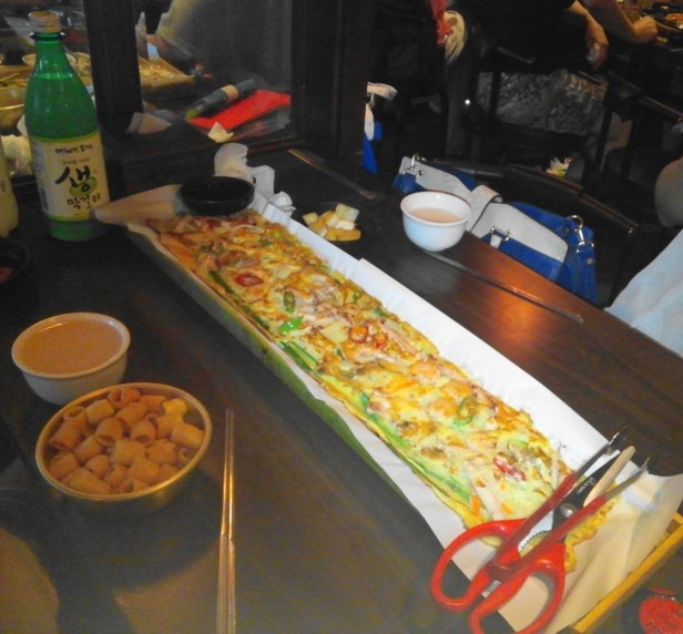 Long Korean Seafood Pancake