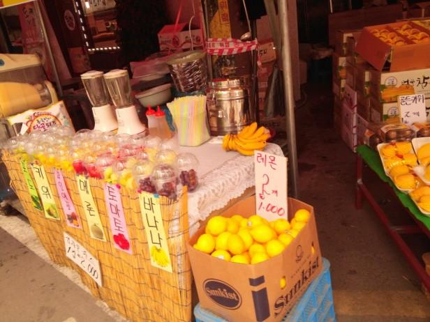 Byeongbang Market - Fruit Juice