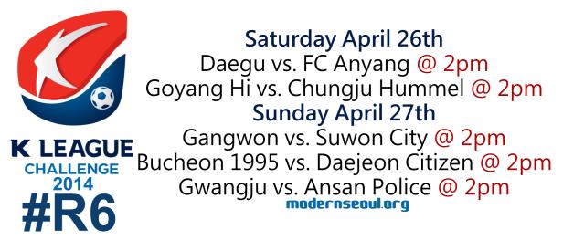 K League Challenge 2014 Round 6