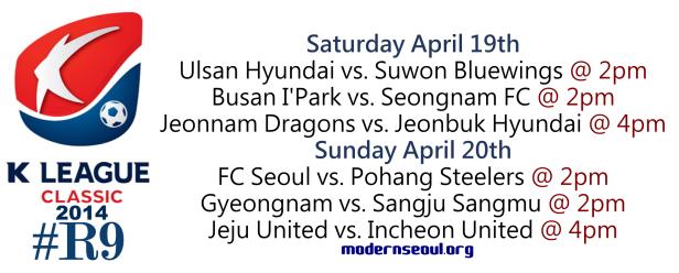 K League Classic 2014 Round 9