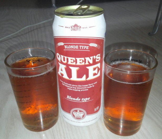 Queens Ale Korean Beer - Poured 2