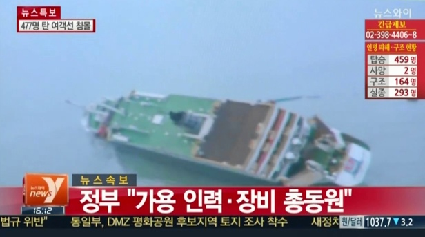Sewol Ferry Rescue - Early Stages