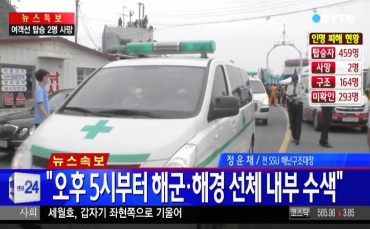 Sewol Ferry Rescue - South Korea