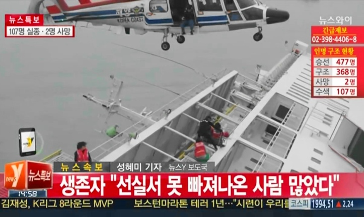 Sewol Ferry Sinking - South Korea Rescue