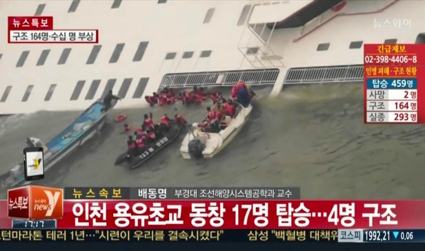 South Korea Ferry disaster - Rescuing Students