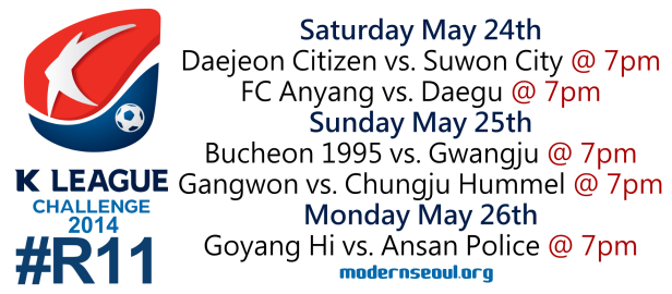 K League Challenge 2014 Round 11