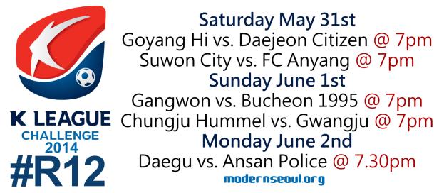 K League Challenge 2014 Round 12