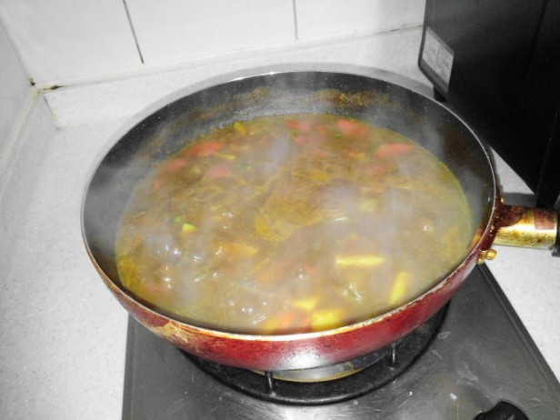 Korean Curry Cooking at Home
