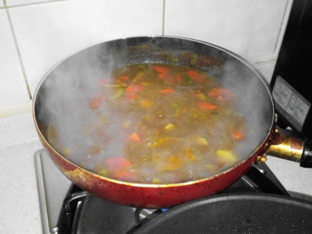 Korean Curry Cooking from Powder