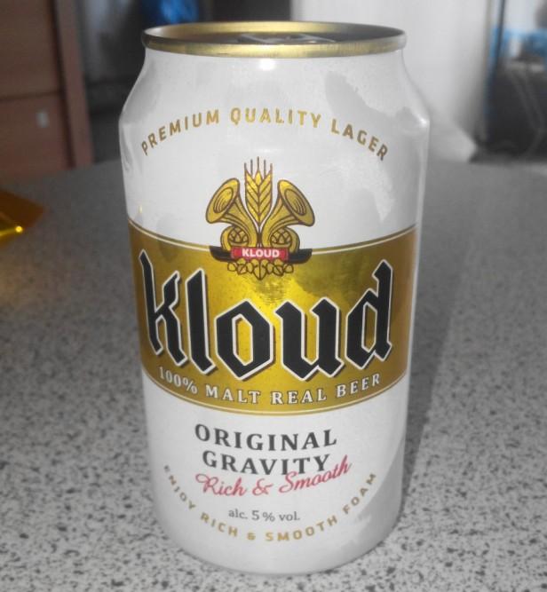 Lotte Kloud Korean Beer Can
