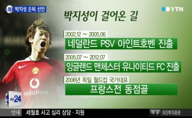 Park Ji Sung Retirement - Korean News (1)