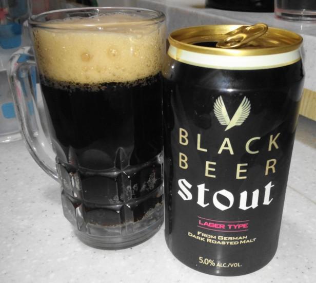 Stout Korean Black Beer - Poured