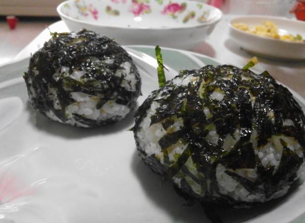 Homemade Kimbap Ball Finished