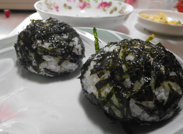 Homemade Kimbap Ball Finished