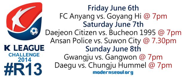 K League Challenge 2014 Round 13