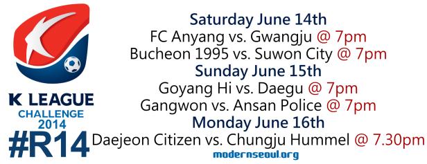 K League Challenge 2014 Round 14