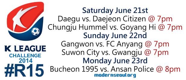 K League Challenge 2014 Round 15