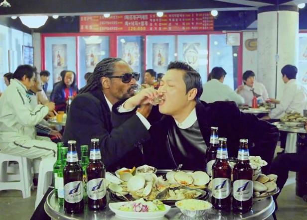 PSY Hangover Snoop Dogg Soju Couple
