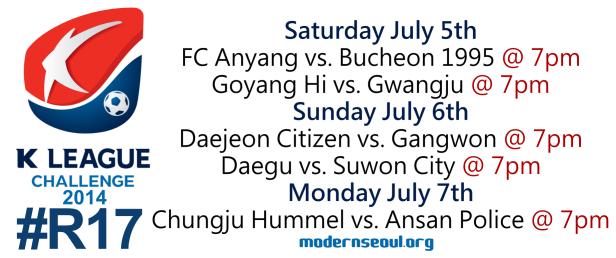 K League Challenge 2014 Round 17