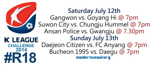 K League Challenge 2014 Round 18