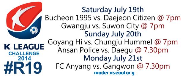 K League Challenge 2014 Round 19
