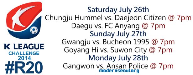 K League Challenge 2014 Round 20