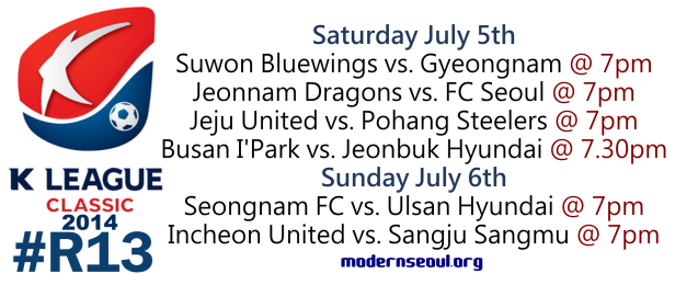 K League Classic 2014 Round 13 July 5th