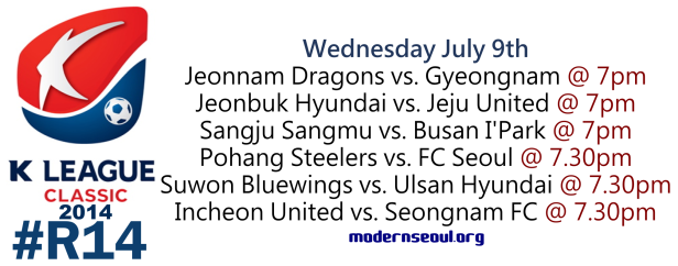 K League Classic 2014 Round 14 July 9th