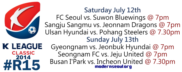 K League Classic 2014 Round 15 July 12th