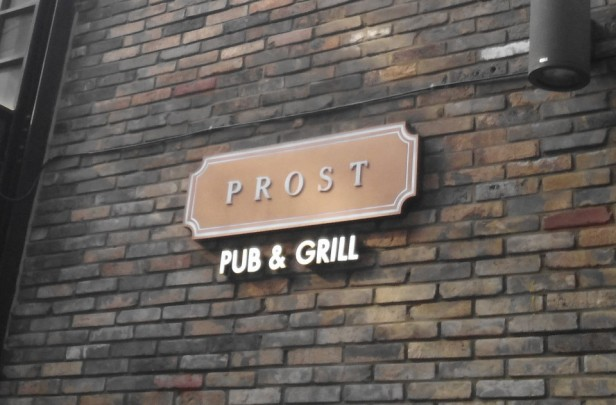 Prost Pub and Grill Itaewon Seoul Sign