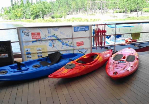 Songdo Central Park and Lake Incheon Canoes