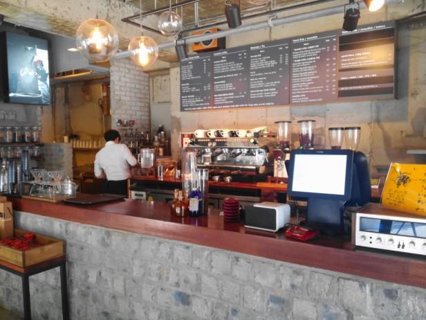 Grabie Coffee Hongdae Seoul counter
