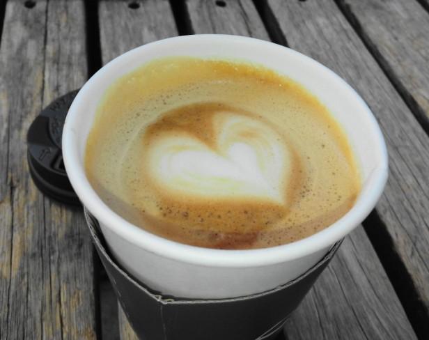 Grabie Coffee Hongdae Seoul heart cream