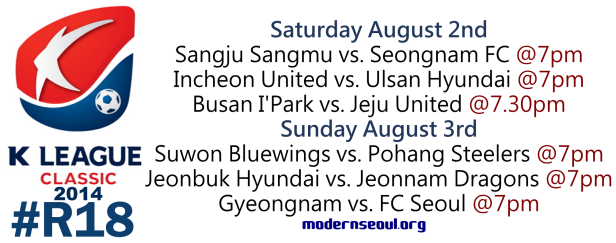 K League Classic 2014 Round 18 August 2nd