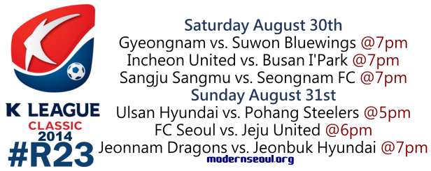 K League Classic 2014 Round 23 August 30th