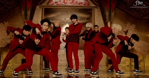Super Junior Mamacita Dance Red Suit