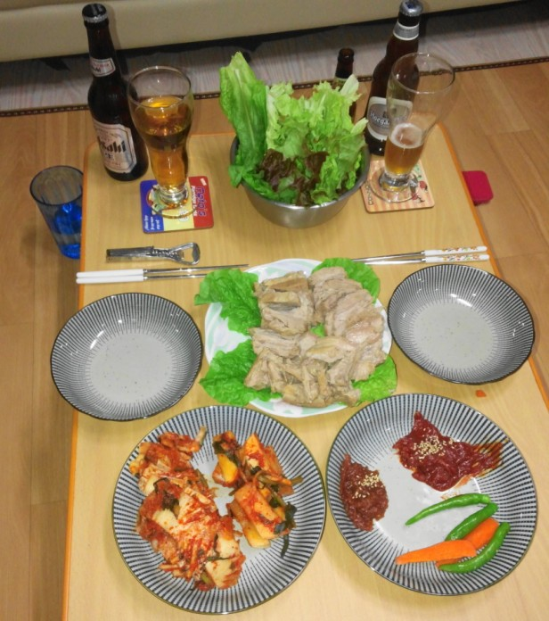 Home Made Korean Bosam Meal 2