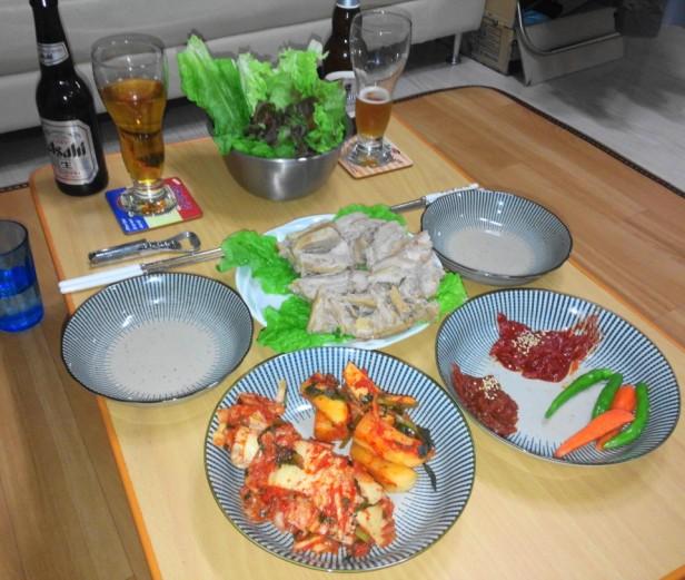 Home Made Korean Bosam Meal