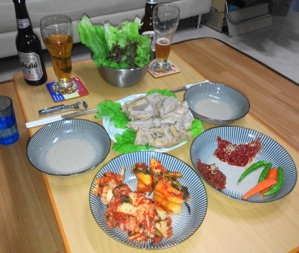Home Made Korean Bosam Meal