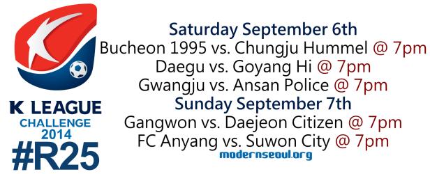 K League Challenge 2014 Round 25 September 6th
