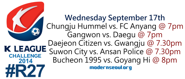 K League Challenge 2014 Round 27 September 17th