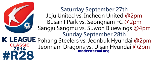K League Classic 2014 Round 28 September 27th