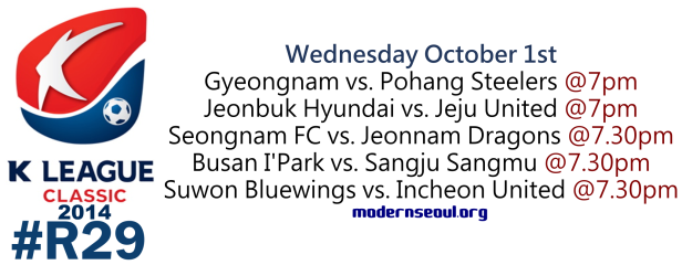 K League Classic 2014 Round 29 October 1st