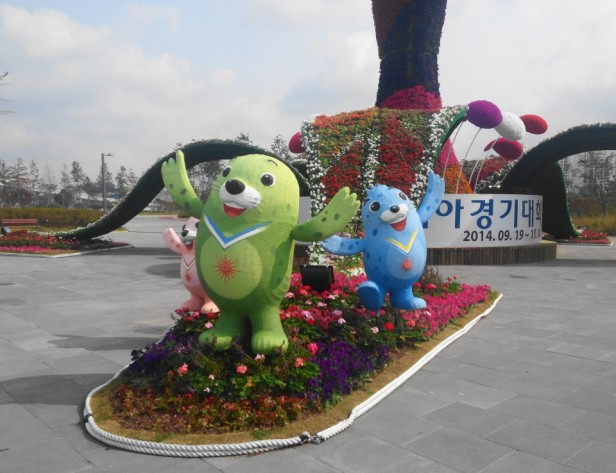 Incheon Asian Games Themed Sculpture Mascots