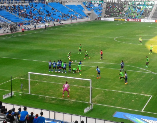 Incheon United vs. Jeonbuk Hyundai - Free Kick